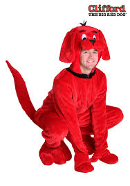 Size Animal Halloween Costumes Clifford Big Red Dog Size Costume Adults