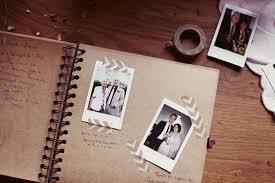 polaroid guest book album polaroids with written messages for guest book such a