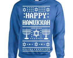 happy hanukkah sweater sweater etsy