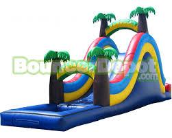 Backyard Inflatable Pool by Inflatable Pool Slide Palm Tree Tropical Inflatable Pool Slide