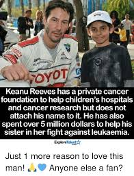 Keanu Reeve Meme - rroyot keanu reeves has a private cancer foundation to help