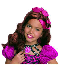 ever after high kitty cheshire girls wig halloween costume hair