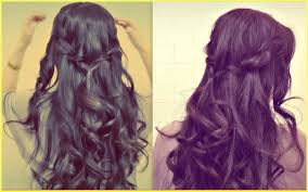 updos for curly hair i can do myself easy prom half up updo how to waterfall rope braid hairstyles