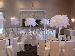 ostrich feather centerpiece wholesale 100pcs a lot 10 12inch ostrich feather plume white