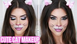 how to do halloween makeup cute u0026 cat halloween makeup tutorial quick u0026 easy halloween