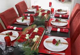 ideas how to decorate christmas table captivating christmas dinner desk decoration concepts dining room