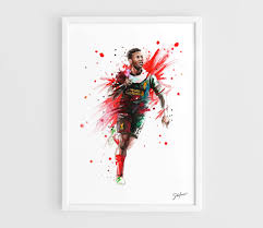 Liverpool Wall Stickers Daniel Sturridge Liverpool Fc A3 Wall Art Print Poster Of