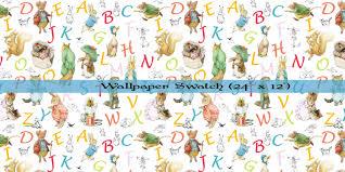 beatrix potter wallpaper alphabet wallpaper and decals zoom