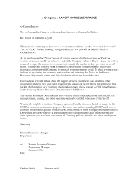 Notice Of Employment Termination Letter by Layoff Notice With Severance Form