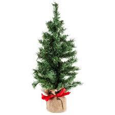 24 green mini tree with burlap base