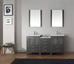 fabulous double undermount washbasin white porcelainop gray