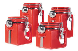 red kitchen canisters kitchen 41j0doihhpl outstanding red kitchen canisters 9 red