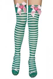 cute stockings green cute womens bow stripe stockings christmas accessory pink queen