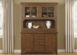 Kitchen Hutch Furniture Hearthstone Rustic Oak Buffet With Hutch From Liberty 382 Dr Hb