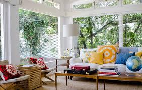 interior bright small sunroom interior design with drum shape