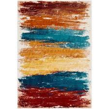 8 x 10 blue abstract area rugs rugs the home depot