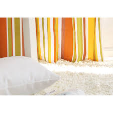 Yellow Stripe Curtains Yellow Cotton Striped Curtains For