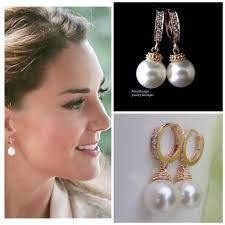 earrings kate middleton kate middleton gold inspired bridal cz hoop
