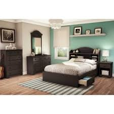 Full Bookcase South Shore Summer Breeze Blueberry Full Bookcase Headboard Free