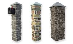 faux columns stone rock brick styles for easy elegance