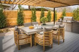 cuisine de jardin en aménagement de jardin et terrasse moderne en 42 photos