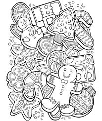 Christmas Cookie Collage Coloring Page Crayola Com Coloring Cookies