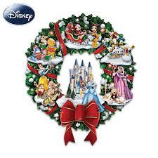 the wonderful world of disney character christmas wreath by the