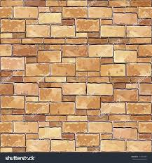 stone brick wall seamless vector illustration stock vector