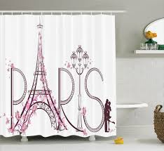 Eiffel Tower Window Curtains by Paris City Decor Shower Curtain Set Tower Eiffel With Paris