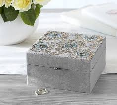 jewelry box favors embroidered jewelry box pottery barn