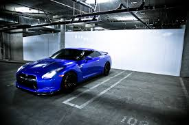 nissan gtr black edition blue gt r
