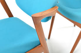 Teal Dining Chairs by Mid Century Model 42 Teak Dining Chairs By Kai Kristiansen For