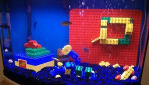 diy lego aquarium decor petdiys