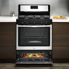 whirlpool wfg505m0bw 30 inch freestanding gas range with broiler