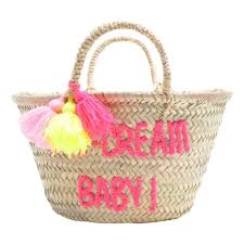 Ice Cream Gift Basket Embroidered Ice Cream Baby Basket Fuchsia Rose In April Design