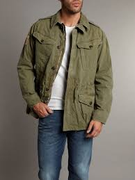 polo ralph lauren military bat jacket in natural for men lyst