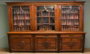 Library Bookcase With Glass Doors by Home Library Bookcase Antique Library Bookcase Antique Bookcases