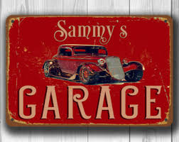 Custom Signs For Home Decor Garage Sign Etsy