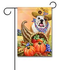 Fall Garden Flag English Bulldog Autumn Pet Flags Flagology Com