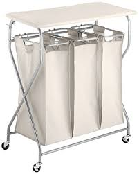 Laundry Sorter With Folding Table Whitmor Easy Lift Sorter With Folding Table