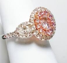 light pink engagement rings 2 30ct natural fancy light pink ring gia 18k white gold round