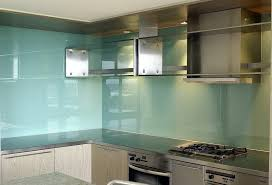 blue glass kitchen backsplash frosted glass and light wood kitchen cabinets frosted glass