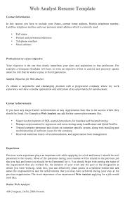 Analyst Resume Template Web Analyst Resume Template Resumedoc