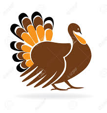 happy thanksgiving turkey symbol template icon royalty free