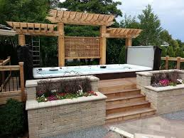 Landscaping Around A Pool by 31 Best Swim Spa Install Ideas Images On Pinterest Tubs