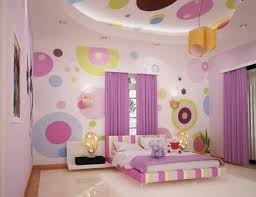 Modern Bedroom Furniture For Teens Bedroom Redoubtable Girls Bedroom With Colorful Wallpaper And