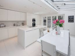 Gloss Cashmere  Grey Acacia Units Siemens Appliances  Crystal - White gloss kitchen cabinets