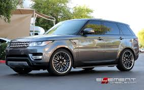 range rover sport black lexani lx10 gloss black milled wheels on 2014 range rover sport v6