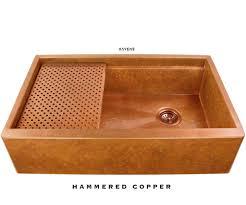 Hammered Copper Bathroom Sink Undermount Copper Kitchen Sinks Usa Handcrafted Havens Metal