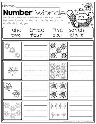 winter math and literacy packet no prep kindergarten number